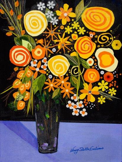 Good Day Sunshine, Mixed media on canvas by Nancy Stella Galianos