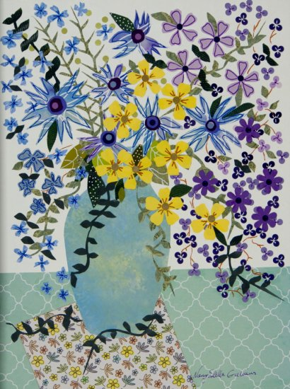 Delightful and Delicate, Mixed media on canvas by Nancy Stella Galianos
