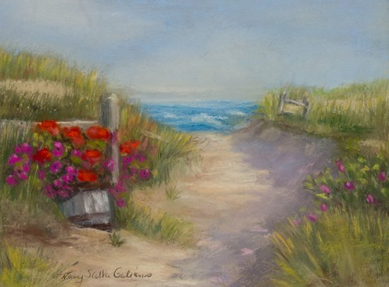 A Summer Place, Pastel by Nancy Stella Galianos
