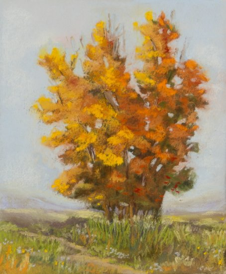Solitaire, Pastel by Nancy Stella Galianos