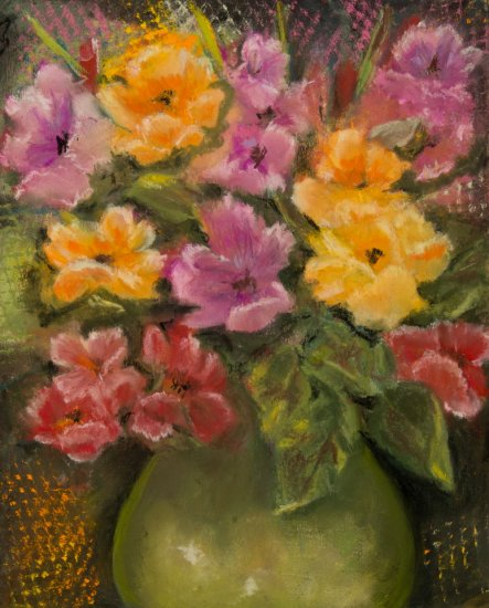 Spring Joy, Pastel by Nancy Stella Galianos