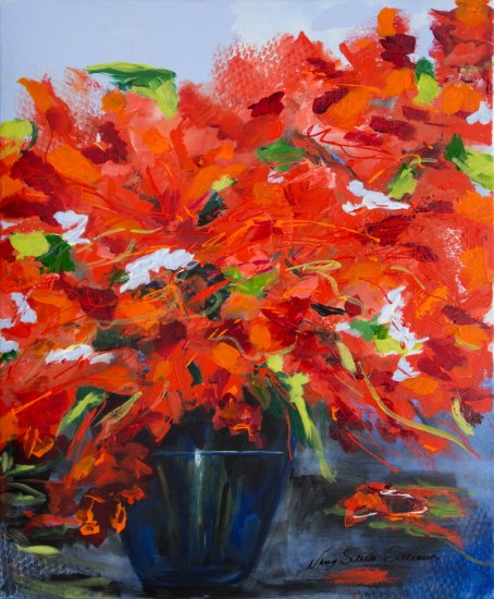 In Full Bloom, Acrylic on canvas by Nancy Stella Galianos