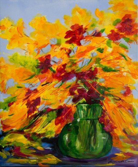 Sun Kissed, Acrylic on canvas by Nancy Stella Galianos