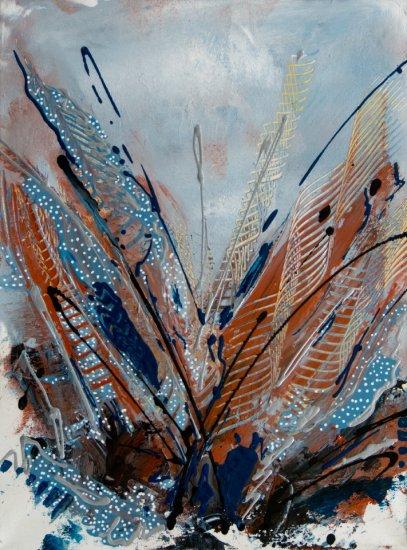 Fern Pathway, Acrylic on canvas by Nancy Stella Galianos