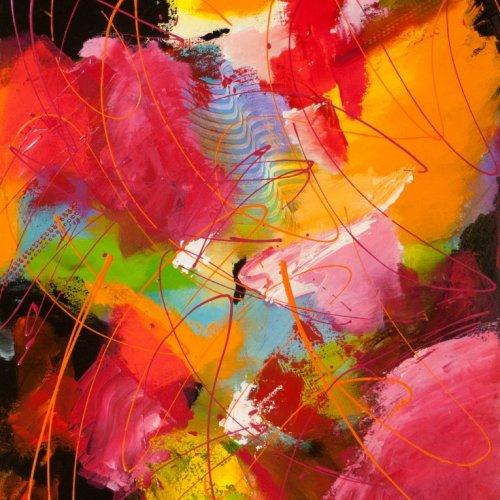 Deep from my Heart, acrylic on canvas by Nancy Stella Galianos