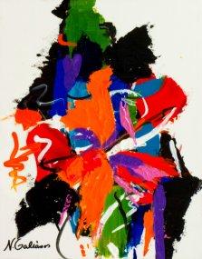 Wild Flower, Acrylic on canvas by Nancy Stella Galianos