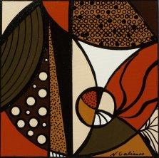 Earthy Mosaic 1, Acrylic on canvas by Nancy Stella Galianos
