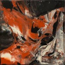 Volcano Glow, Acrylic on canvas by Nancy Stella Galianos