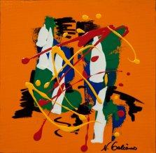 Colour Mood 3, Acrylic on canvas by Nancy Stella Galianos