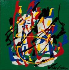 Colour Mood 4, Acrylic on canvas by Nancy Stella Galianos