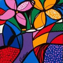 Having Fun, Acrylic on canvas by Nancy Stella Galianos