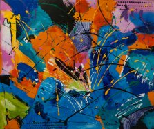 Sparkle of Joy, Acrylic on canvas by Nancy Stella Galianos