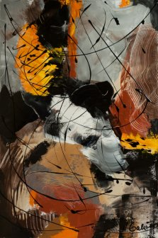 When October Goes, Acrylic on canvas by Nancy Stella Galianos