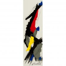 Plume, Acrylic on canvas by Nancy Stella Galianos