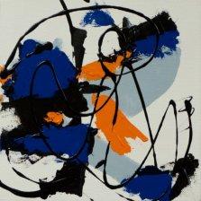 Rhythms in Blues, Acrylic on canvas by Nancy Stella Galianos