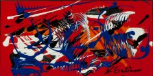 Dancing Fossils, Acrylic on canvas by Nancy Stella Galianos