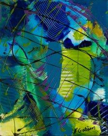 Deep Sea Reflection, Acrylic on canvas by Nancy Stella Galianos