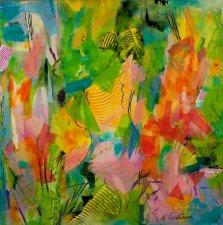 Summer Joy, Mixed media on canvas by Nancy Stella Galianos