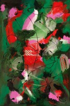 Red Reef, Acrylic on canvas by Nancy Stella Galianos