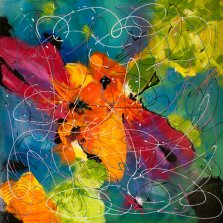 Wild Poppies, Acrylic on canvas by Nancy Stella Galianos