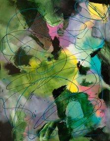 Northern Twirls, Acrylic on canvas by Nancy Stella Galianos