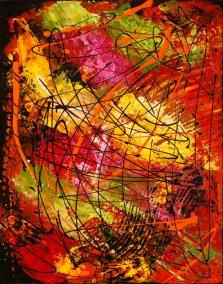 Luminous Vibrations, Acrylic on canvas by Nancy Stella Galianos
