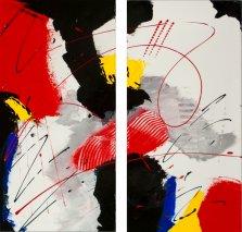 Joyful Escapade, Acrylic on canvas by Nancy Stella Galianos