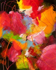 Deep from the Heart, Acrylic on canvas by Nancy Stella Galianos