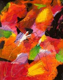 Feelings Within, Acrylic on canvas by Nancy Stella Galianos