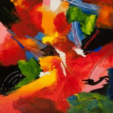 Elated Energy, Acrylic on canvas by Nancy Stella Galianos