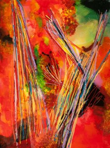 Proud Spirit, Mixed media on canvas by Nancy Stella Galianos