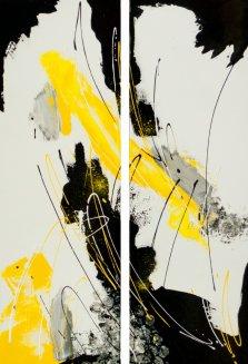 Lemon Drop, Acrylic on canvas by Nancy Stella Galianos
