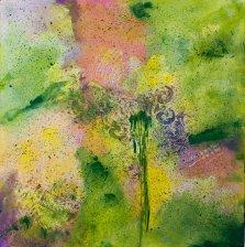Fleur de Rocaille, Acrylic on canvas by Nancy Stella Galianos