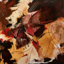 Giocoso Mouvement, Acrylic on canvas by Nancy Stella Galianos