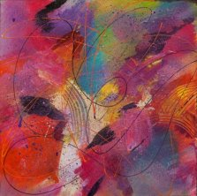 Silk Till, Acrylic on canvas by Nancy Stella Galianos