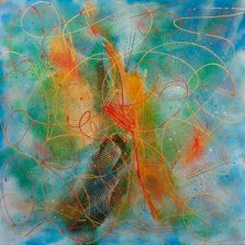 Fantasia 2, Acrylic on canvas by Nancy Stella Galianos