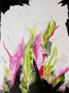 In the Pink, Acrylic on canvas by Nancy Stella Galianos