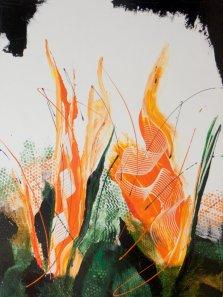 Light my Fire, Acrylic on canvas by Nancy Stella Galianos