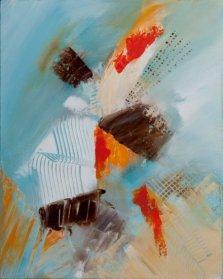 Adagio, Acrylic on canvas by Nancy Stella Galianos