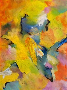 I Set Fire to the Rain, Acrylic on canvas by Nancy Stella Galianos