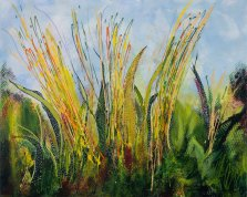 Prairie Grass, Acrylic on canvas by Nancy Stella Galianos