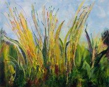 Prairie Grass, Acrylic on canvas by Nancy Stella Galianos