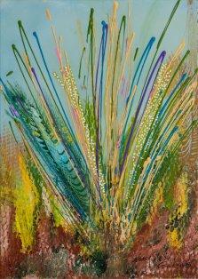 Bluestem, Acrylic on canvas by Nancy Stella Galianos