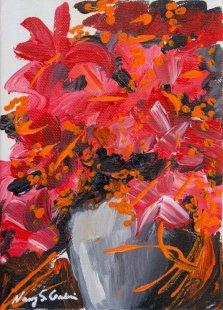 Red Reflection, Acrylic on canvas by Nancy Stella Galianos