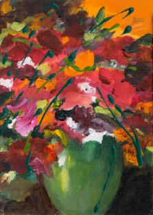 Stella's Garden Bouquet, Acrylic on canvas by Nancy Stella Galianos