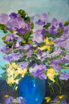 Spring Bouquet, Acrylic on canvas by Nancy Stella Galianos