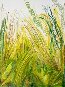 Wild Tall Grasses, Acrylic on canvas by Nancy Stella Galianos