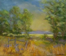Summer Country Landscape, Pastel by Nancy Stella Galianos
