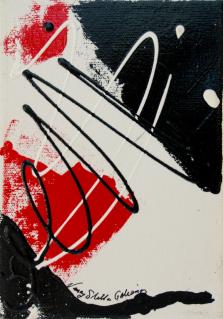Rouge et Noir S14, Acrylic on canvas by Nancy Stella Galianos