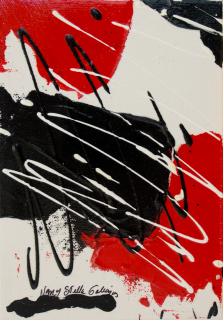 Rouge et Noir S13, Acrylic on canvas by Nancy Stella Galianos